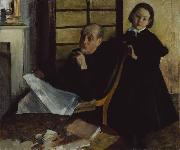 Edgar Degas Henri Degas and His Niece Lucie Degas oil painting on canvas